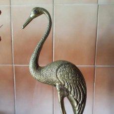 Antigüedades: ANTIGUA FIGURA DE PAJARO EN BRONCE.. Lote 57363257