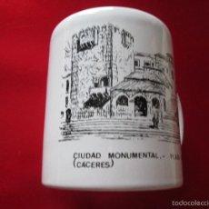 Antigüedades: TAZÓN-COFFE MUG-CÁCERES-CIUDAD MONUMENTAL-PLAZA MAYOR-J.SANCHEZ BAYO-9,5X8,5 CMS-NUEVO-VER FOTOS.. Lote 57363385