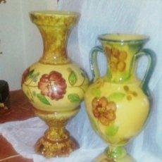 Antigüedades: JARRONES DE CERAMICA ESMALTADA. TIPO DE ESMALTADO DE L. BOLINCHES Y ANTONIO PEYRO.. Lote 57364042