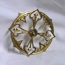 Antigüedades: CORONA AUREOLA LATON PARA IMAGEN. MED. 7,50 CM DIAMETRO. Lote 194534948