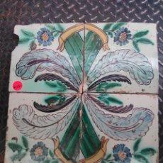 Antigüedades: 4 AZULEJOS DE MANISES SIGLO XVIII. Lote 57371488