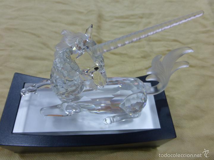 SOFISTICADA FIGURA UNICORNIO CRISTAL SWAROVSKI-CRIATURAS FANTÁSTICAS-ORIGINAL EDICIÓN M. ZENDRÓN- (Antigüedades - Cristal y Vidrio - Swarovski)