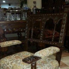 Antigüedades: PAREJA DE MECEDORAS TALLADAS. Lote 57374530