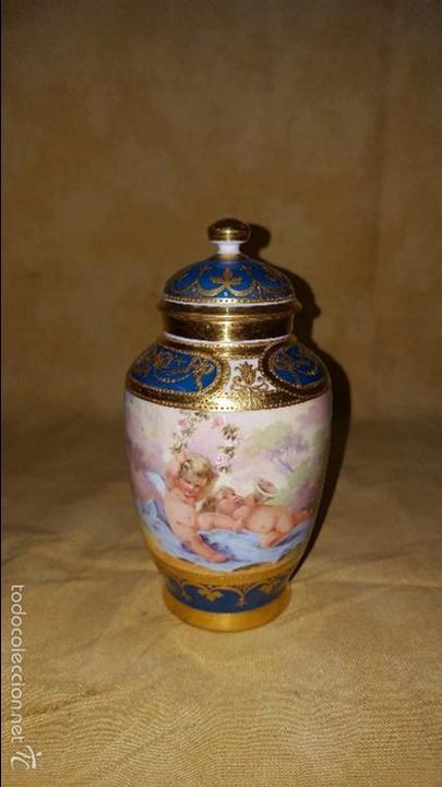 TIBOR DE PORCELANA (Antigüedades - Porcelana y Cerámica - Alemana - Meissen)