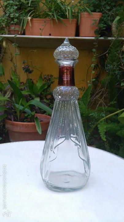 Antigüedades: Licorera de vidrio prensado - Foto 2 - 57378629