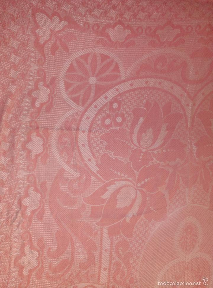 Antigüedades: Colcha antigua de algodón rosa - Foto 3 - 57383427