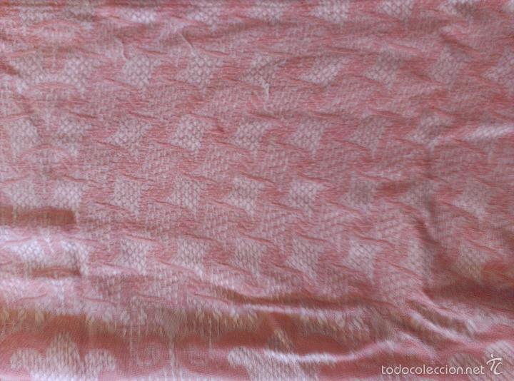 Antigüedades: Colcha antigua de algodón rosa - Foto 5 - 57383427