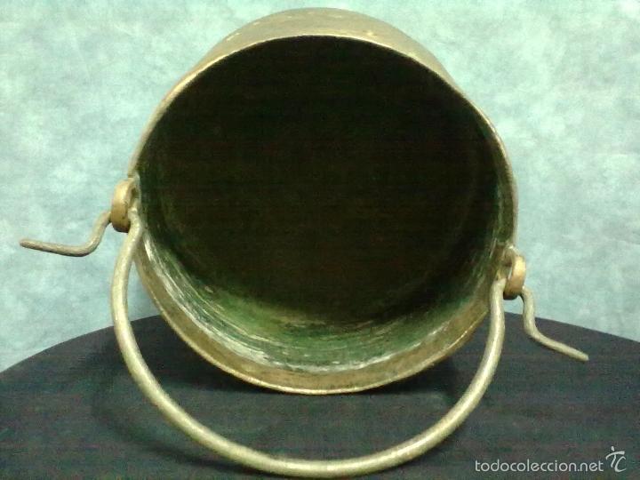 Antigüedades: CALDERA COBRE BOCA ESTRECHA MEDIA HERRADA - Foto 5 - 57383478
