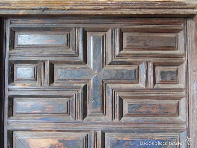 Puerta antigua de cuarterones de interior vendido en for Puertas de cuarterones antiguas