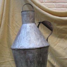 Antigüedades: CANTARO GRANDE Y ANTIGUO EN CHAPA CINQUELADA, PARA ACEITE.. Lote 57387222