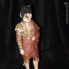 Antigüedades: TORERO EN AUTÉNTICA PORCELANA DE ALGORA DOCUMENTADA. POCO FRECUENTE EN PERFECTO ESTADO.. Lote 57390084