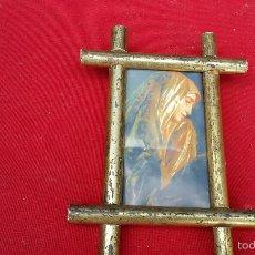 Antigüedades: PEQUEÑO CUADRO VIRGEN. Lote 57390778