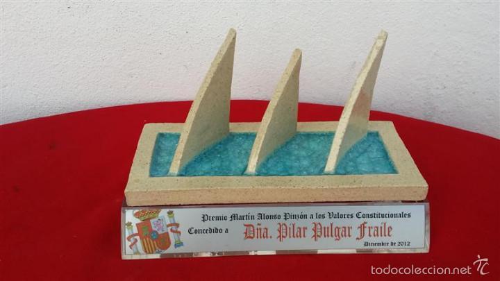 TROFEO DE LAS 3 CARABELAS LA RABIDA (Antigüedades - Hogar y Decoración - Trofeos de Caza Antiguos)
