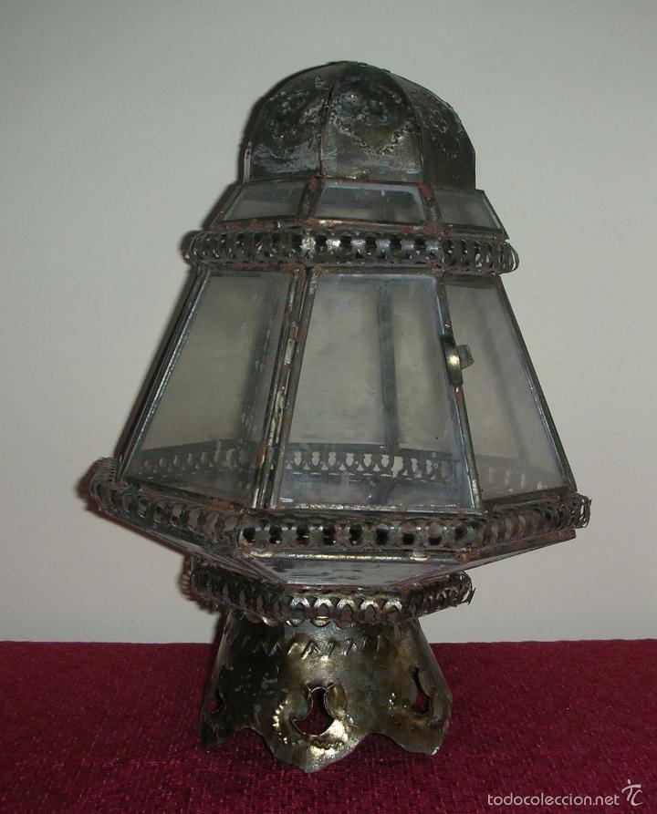 FAROL DE PEANA PROCESIONAL, SIGLO XIX (Antigüedades - Religiosas - Varios)