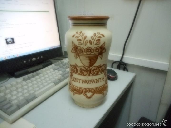 GRAN ALBARELO TARRO FARMACIA PORCELANA TALAVERA (Antigüedades - Porcelanas y Cerámicas - Talavera)