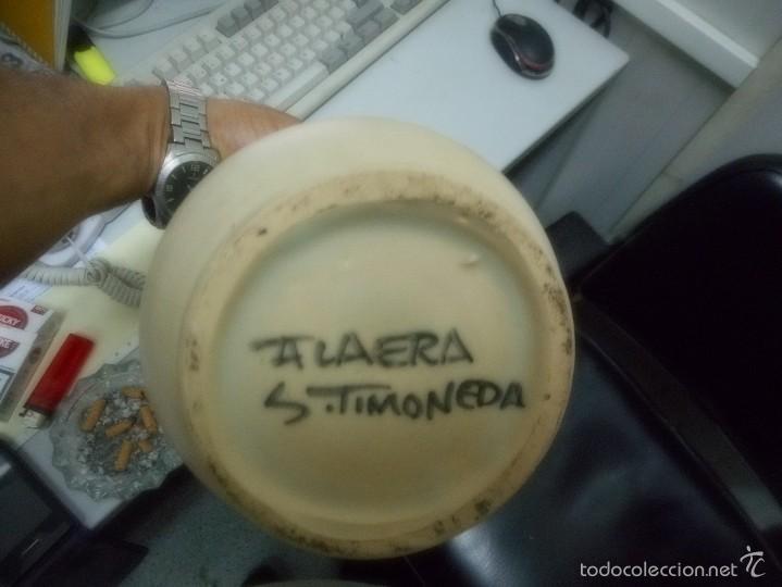 Antigüedades: gran albarelo tarro farmacia porcelana talavera - Foto 4 - 57412819