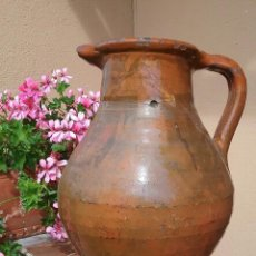 Antigüedades: ALFARERIA CATALANA ANTIGUA MEDIDA DE VINO DE BARCELONA, S XIX.. Lote 57430722