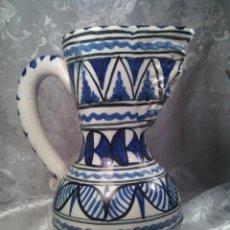 Antigüedades: ANTIGUA JARRA. PORCELANA PUENTE DEL ARZOBISPO. FIRMADA SANGUINO. TOLEDO. MITAD DEL SIGLO XX.. Lote 57433524