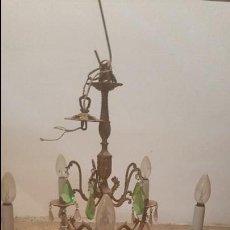 Antigüedades: LAMPARA BRONCE. Lote 57441937