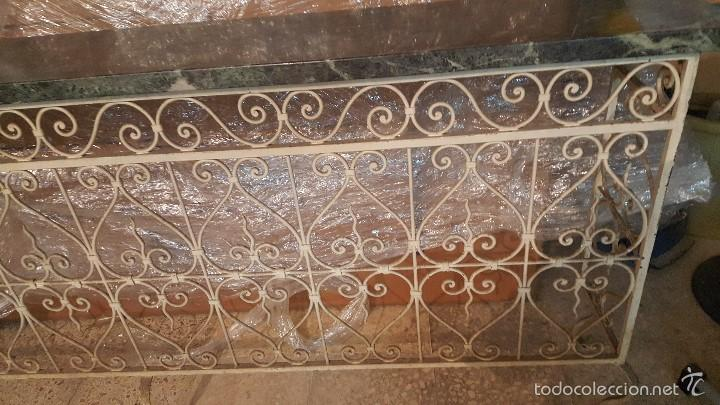 Antigüedades: MESA FORJA MARMOL - Foto 4 - 171254167