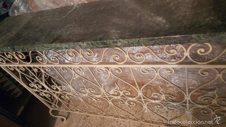 Antigüedades: MESA FORJA MARMOL - Foto 6 - 171254167