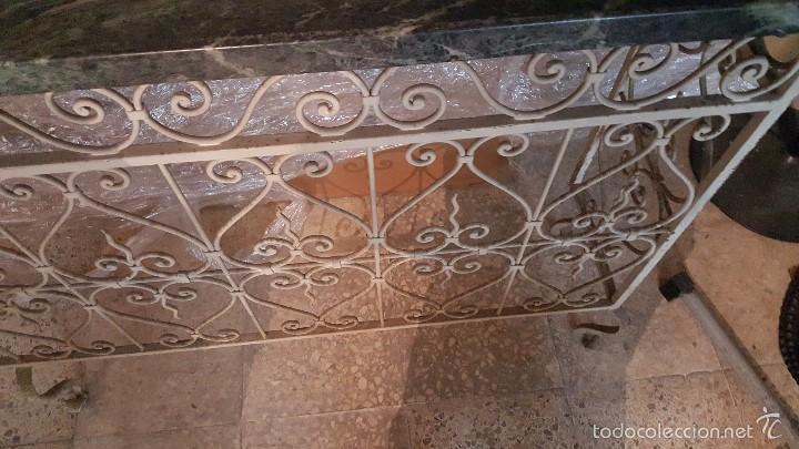 Antigüedades: MESA FORJA MARMOL - Foto 7 - 171254167