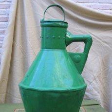 Antigüedades: CANTARO ANTIGUO PARA ACEITE, EN HOJADELATA PINTADA DE VERDE CLARO. AÑO 1932.. Lote 57443110