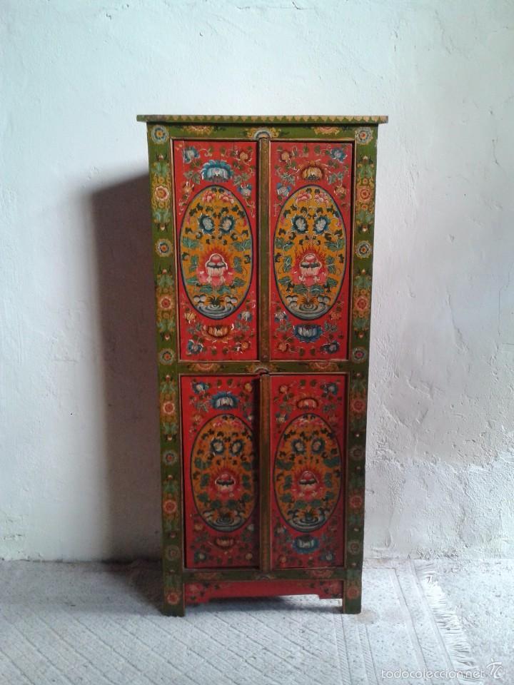 Antiguo armario tibetano rinconera mueble auxil comprar - Armario antiguo segunda mano ...