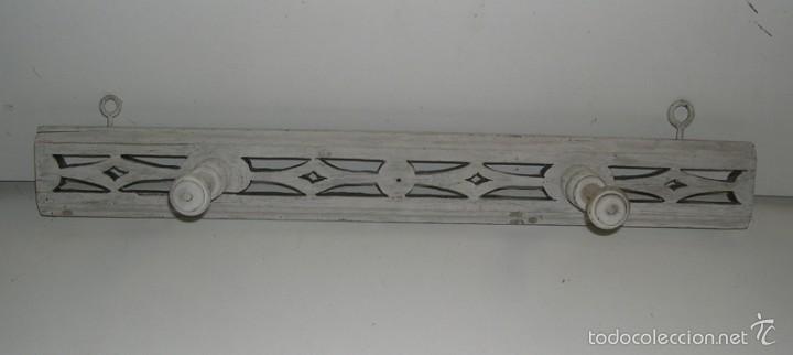 ANTIGUO PERCHERO DE MADERA (Antigüedades - Muebles Antiguos - Auxiliares Antiguos)