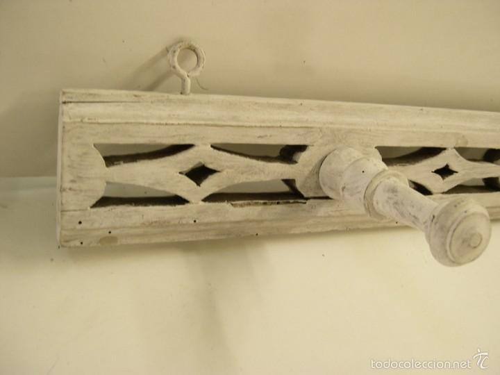 Antigüedades: ANTIGUO PERCHERO DE MADERA - Foto 2 - 57449012