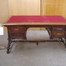Antigüedades: MESA DE DESPACHO EN MADERA DE NOGAL . Lote 57449576