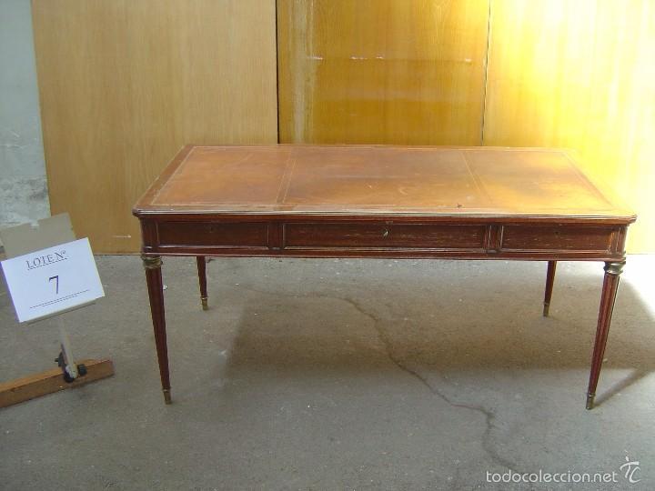 MESA DE DESPACHO CON 3 CAJONES (Antigüedades - Muebles Antiguos - Mesas de Despacho Antiguos)