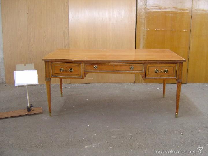Mesa de despacho con 3 cajones comprar mesas de despacho for Muebles despacho segunda mano
