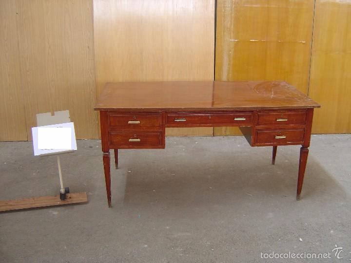 MESA DE DESPACHO CON 5 CAJONES (Antigüedades - Muebles Antiguos - Mesas de Despacho Antiguos)