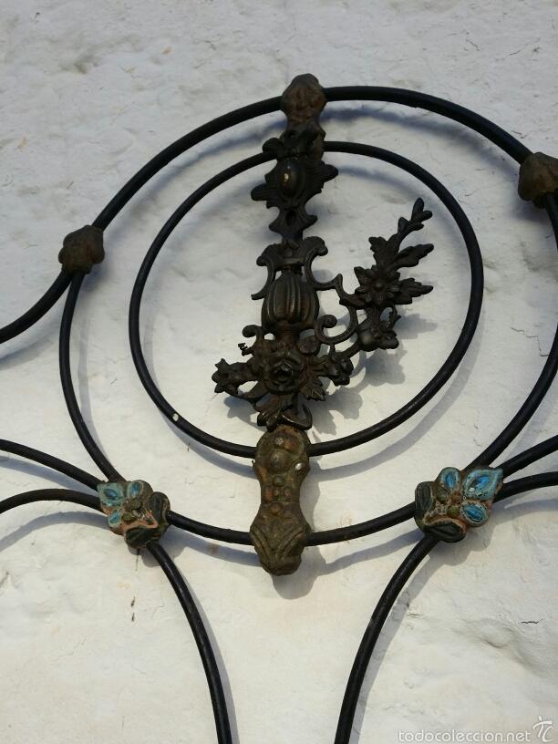 Antigüedades: Cabezal de forja con moldura de latón - Foto 5 - 57457494