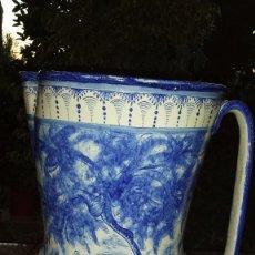 Antigüedades: PRECIOSO Y GRAN JARRON O JARRA PINTADA A MANO. V.G.. Lote 57474726