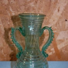 Antigüedades: JARRA EN CRISTAL MALLORQUÍN. Lote 57477301