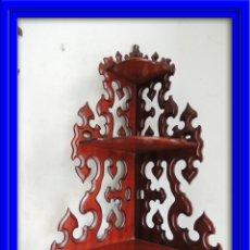 Antigüedades: RINCONERA EN CAOBA PARA COLGAR. Lote 57481835