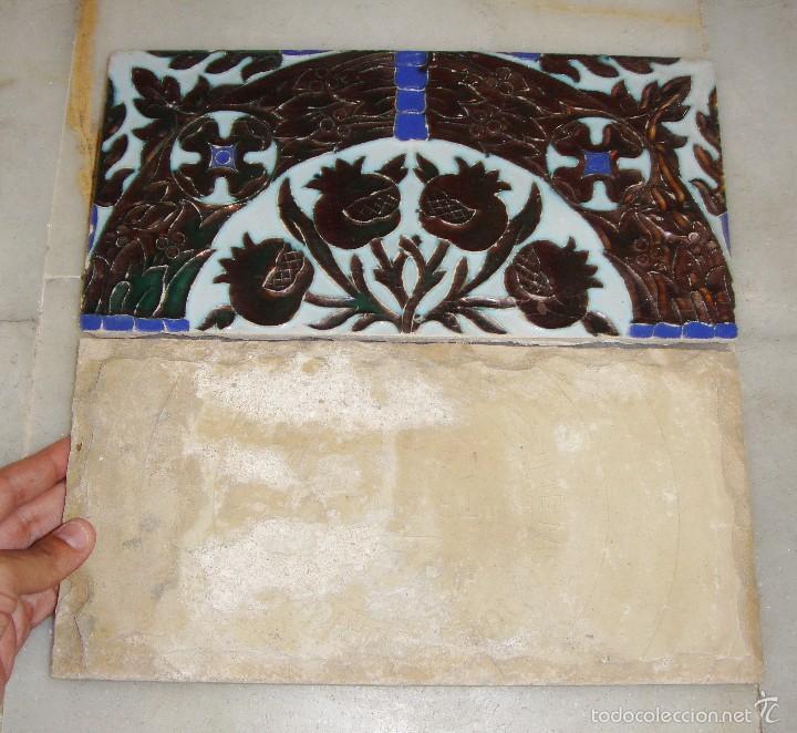 Antigüedades: Antigua Pareja de Azulejos de Reflejos. Triana. - Foto 2 - 57484084
