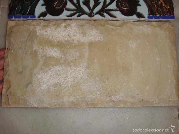Antigüedades: Antigua Pareja de Azulejos de Reflejos. Triana. - Foto 3 - 57484084