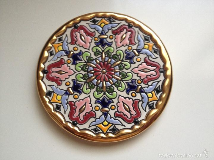 Cearco plato ceramica cuerda seca pintado a m comprar Esmalte para ceramica