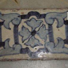 Antigüedades: AZULEJO RECTANGULAR S.XVIII. TRIANA.. Lote 57492202
