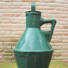 Antigüedades: CANTARO ANTIGUO PARA ACEITE, EN HOJADELATA PINTADA DE VERDE. AÑO 1932.. Lote 57508596