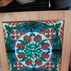 Antigüedades: PAREJA AZULEJOS MENSAQUE DE SEVILLA . Lote 57509380