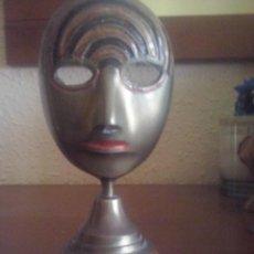 Antigüedades: MASCARA DE BRONCE. Lote 57515324