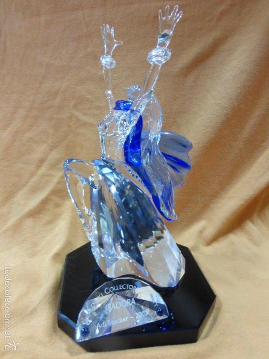 Antigüedades: Figura cristal Swarovski Isadora-bailarina-colección Magia de la danza serie anual-en caja original - Foto 16 - 57517209