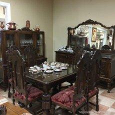 Antigüedades: COMEDOR VICTORIANO DE ROBLE. Lote 57523420