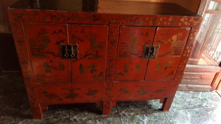 Mueble chino antiguo lacado siglo xix comprar c modas - Mueble chino antiguo ...