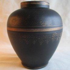 Antigüedades: JARRON DE CRISTAL NEGRO. Lote 57535123