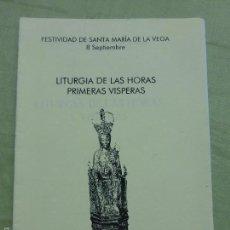 Antiquitäten - SANTA MARIA DE LA VEGA - LITURGIA DE LAS HORAS PRIMERAS VISPERAS - CATEDRAL SALAMANCA - 57539484